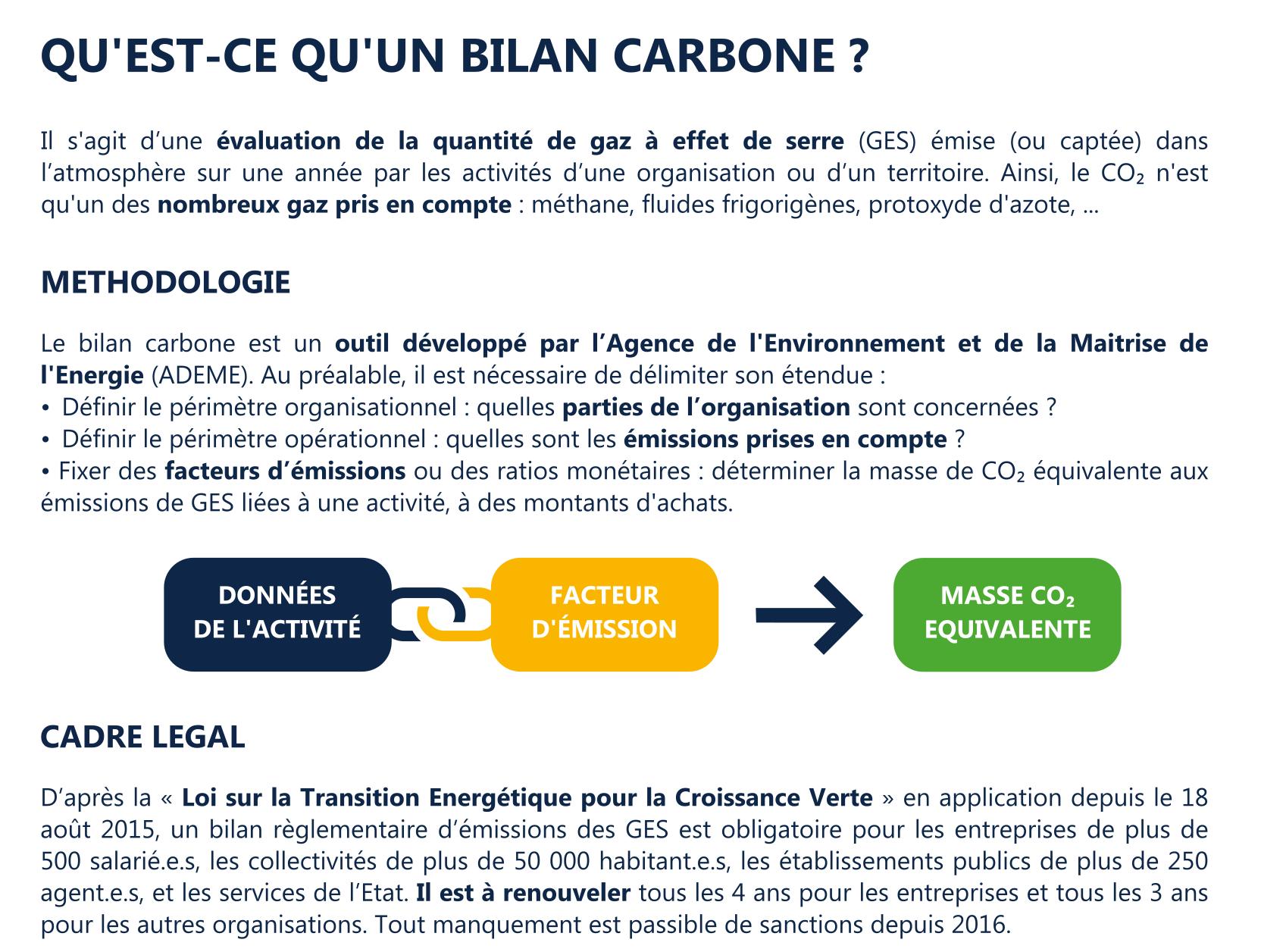 Explication bilan carbone